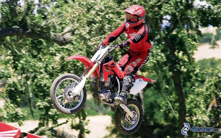 motocross, skok na motocyklu