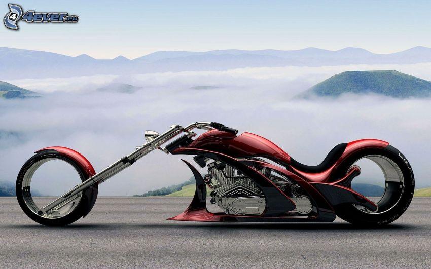 chopper, mgła, wzgórza, inwersja