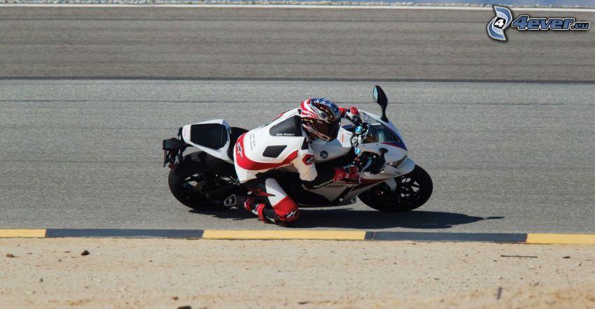 Honda CBR 1000, motocyklista, prędkość, wyścigi, torowe