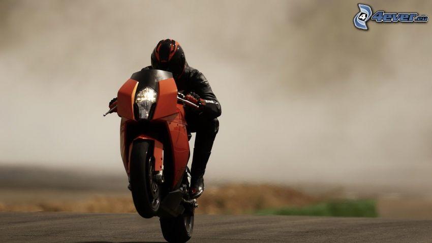 KTM RC8, motocyklista