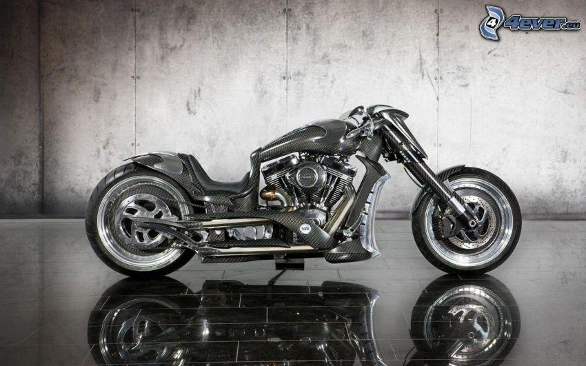 Mansory Zapico, motocykl, odbicie, ściana