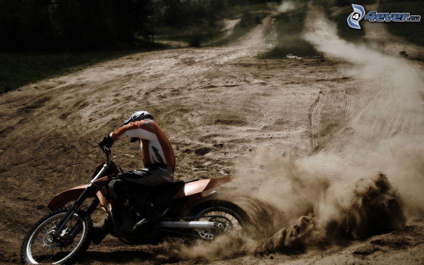 motocyklista, dryfować, wyścigi