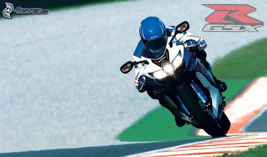 Suzuki GSX-R, motocyklista, wyścigi, wyścigi, torowe