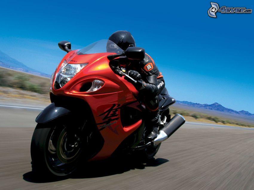 Suzuki Hayabusa, motocyklista, prędkość