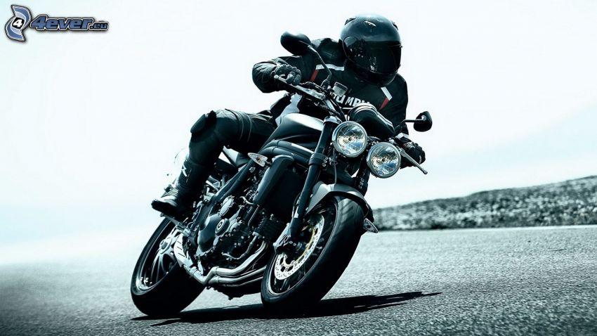 Triumph Speedmaster, motocyklista