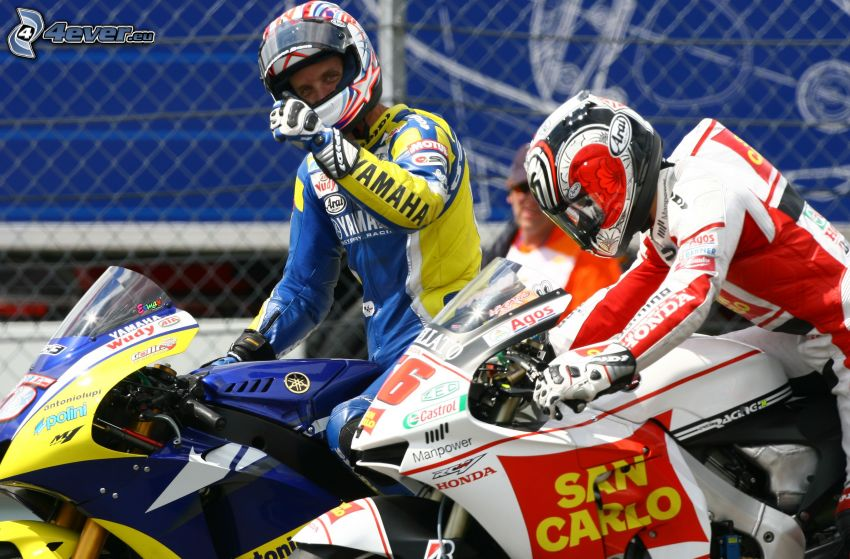 wyścigi, Honda, Yamaha, motocyklista