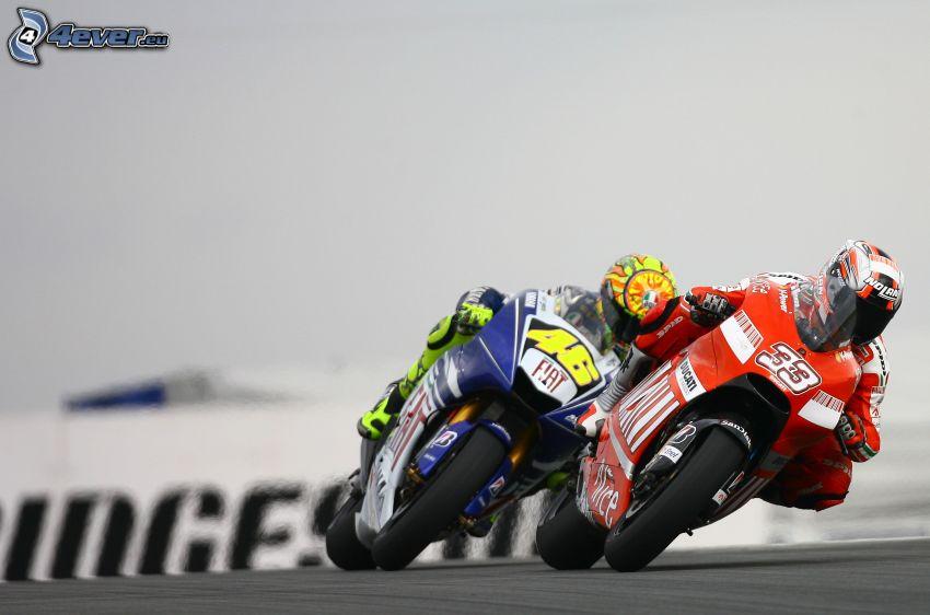 wyścigi, motocykle, Ducati, Fiat, motocyklista, prędkość