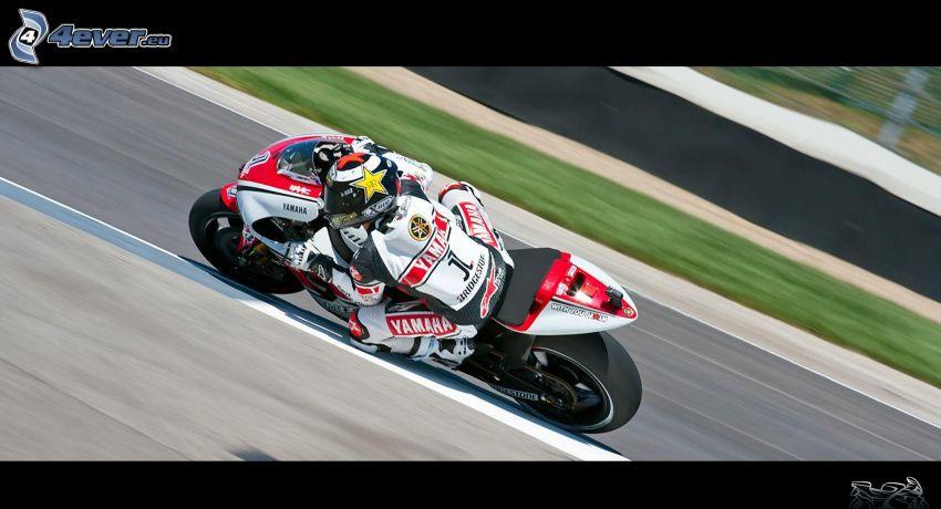 Yamaha, motocyklista, prędkość