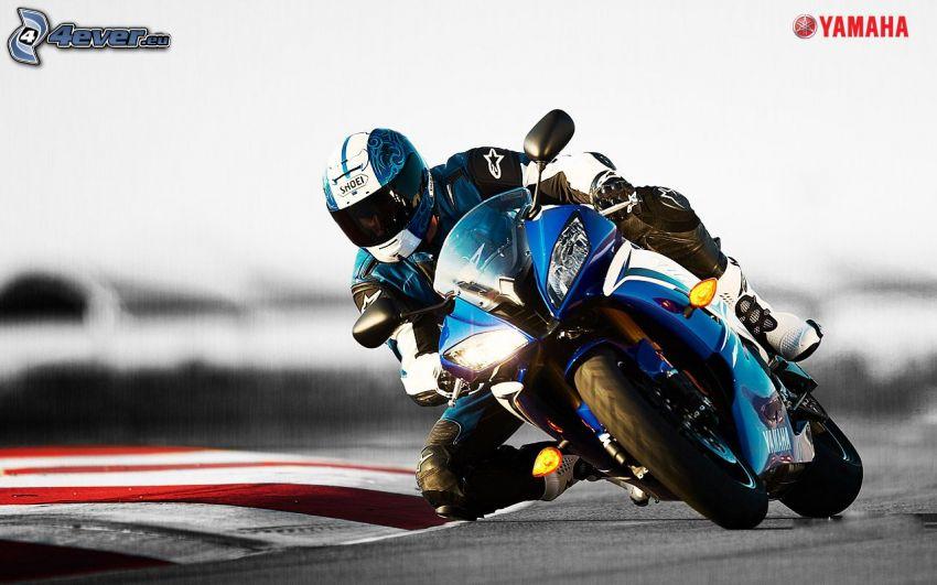 Yamaha, motocyklista, wyścigi, torowe