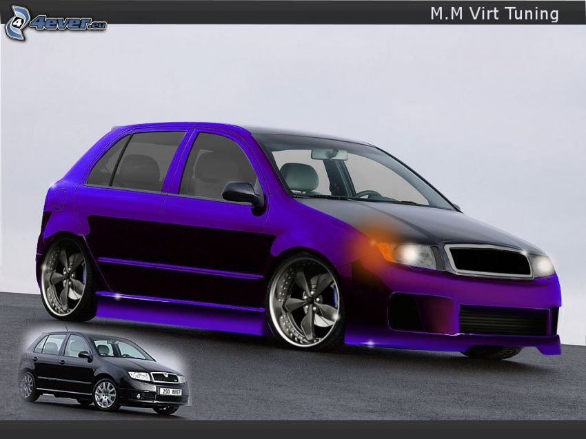 Škoda Fabia, virtual tuning