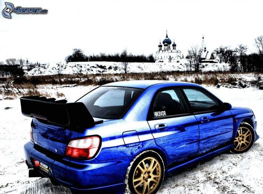 Subaru Impreza WRX, śnieg