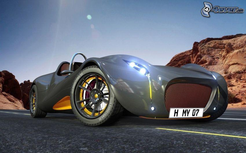 sportowe auto, kabriolet, projekt