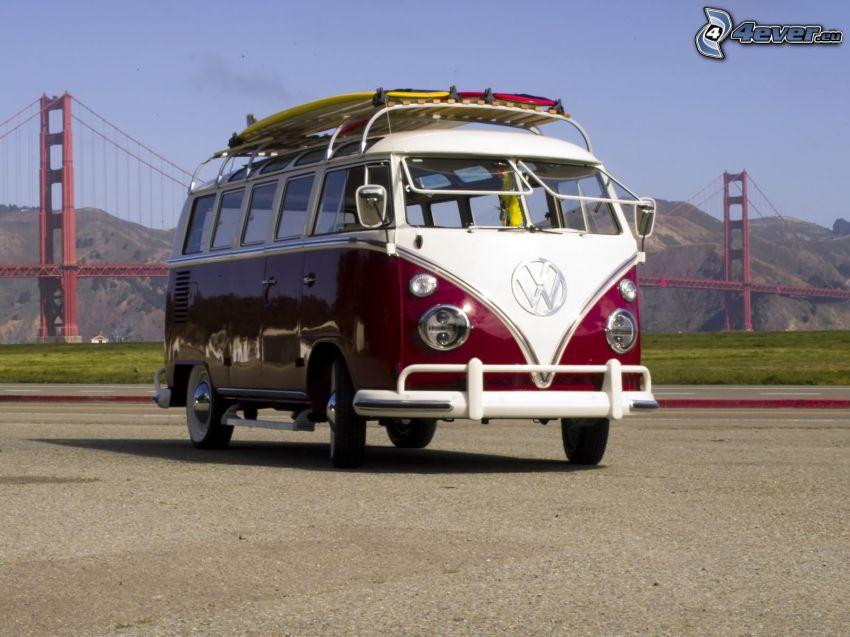 Volkswagen Type 2, weteran, Golden Gate