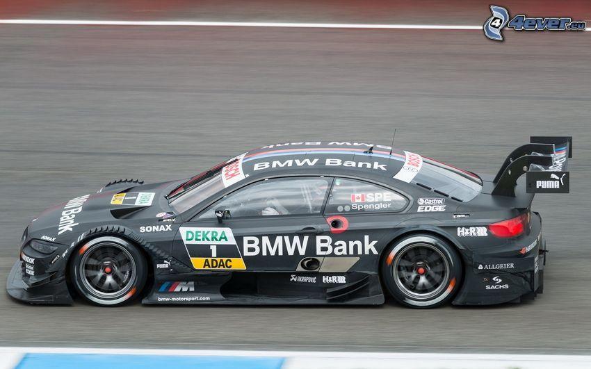 BMW, auta wyścigowe, prędkość, wyścigi, torowe