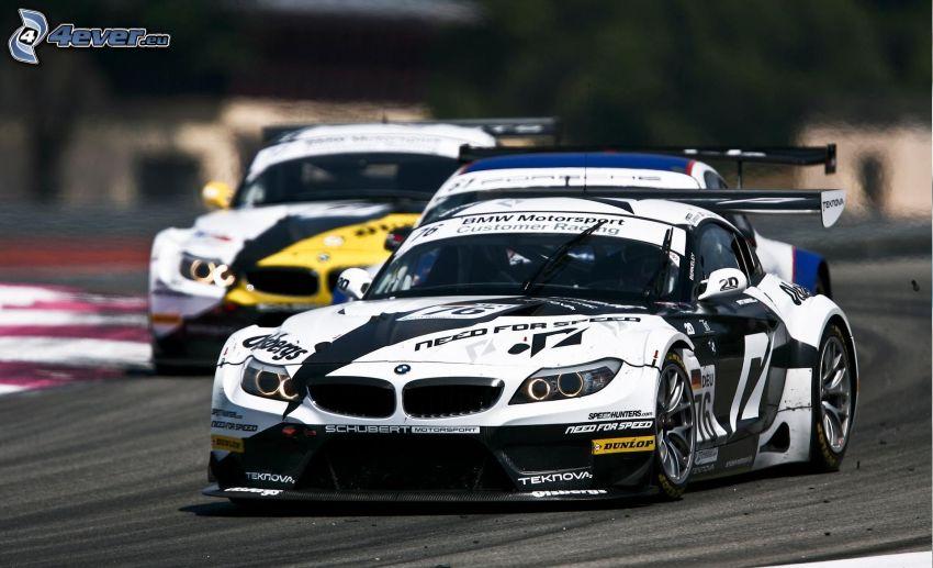 BMW, auta wyścigowe, wyścigi, torowe