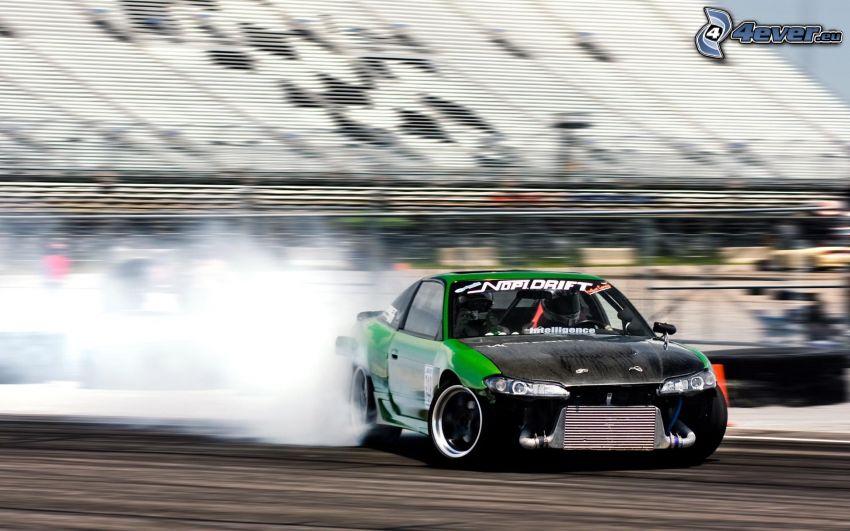 dryfować, dym