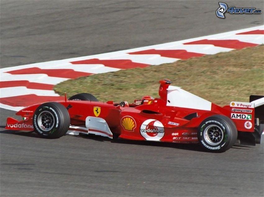 Ferrari F1, formuła, Monoposto, wyścigi, torowe