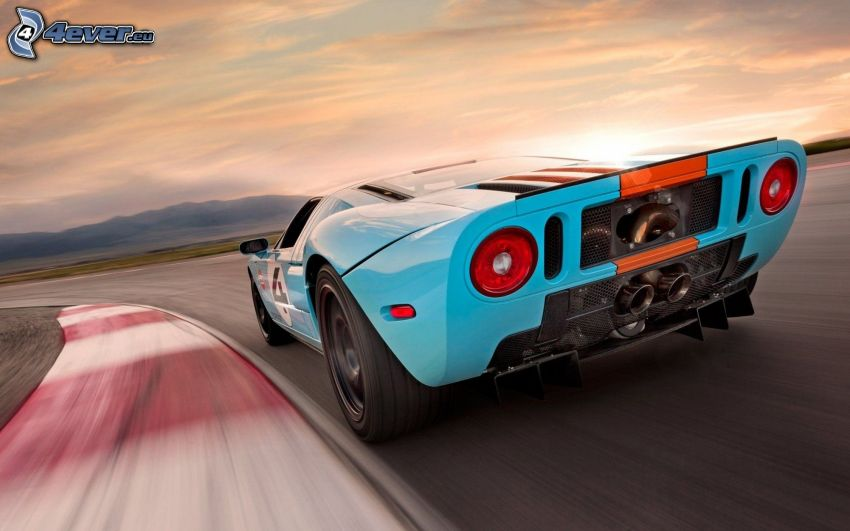 Ford GT40, wyścigi, torowe, prędkość