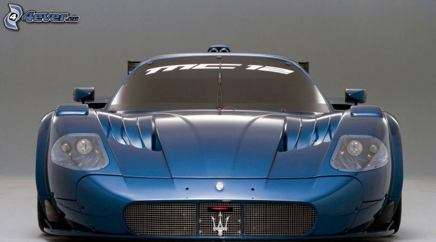 Maserati, przednia maska, sportowe auto