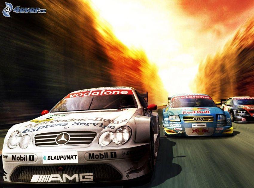 Mercedes, Audi, wyścigi, prędkość