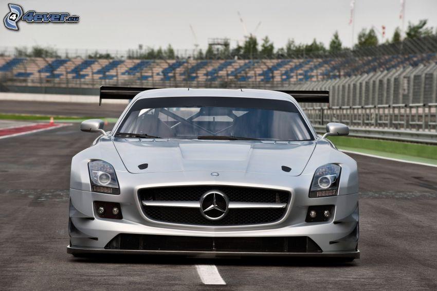 Mercedes SLS AMG GT3, przednia maska, wyścigi, torowe