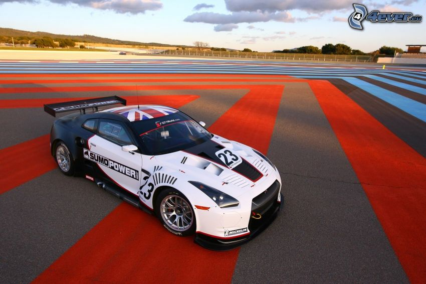 Nissan GTR, auta wyścigowe, wyścigi, torowe