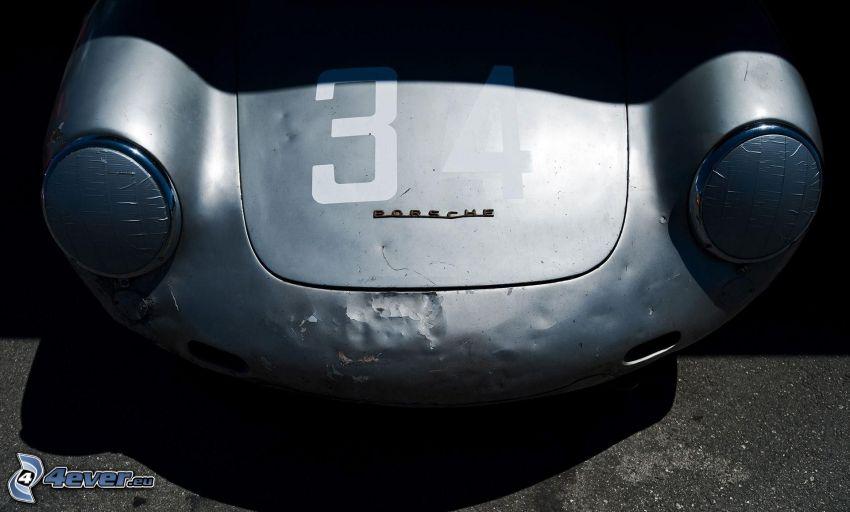 Porsche, weteran, przednia maska