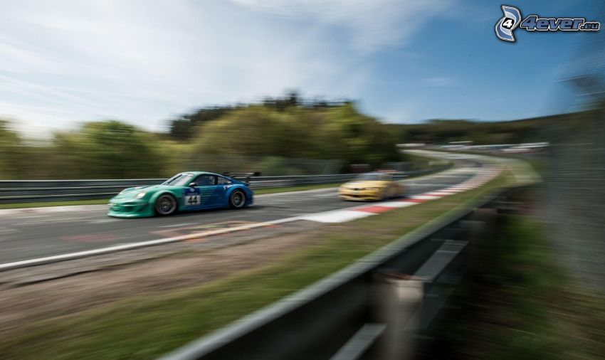 Porsche GT3R, wyścigi, prędkość, wyścigi, torowe