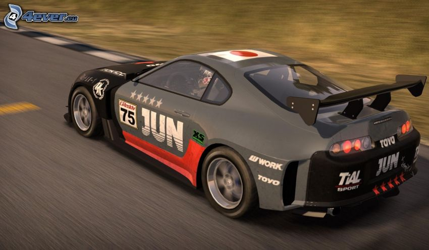 Toyota Supra, prędkość, wyścigi, torowe