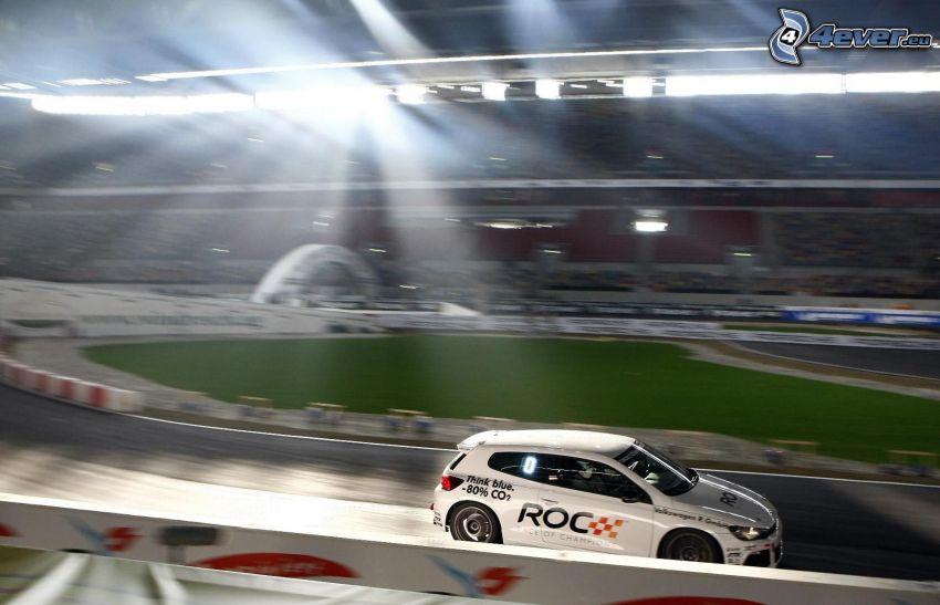 volkswagen, auta wyścigowe, wyścigi, torowe, prędkość