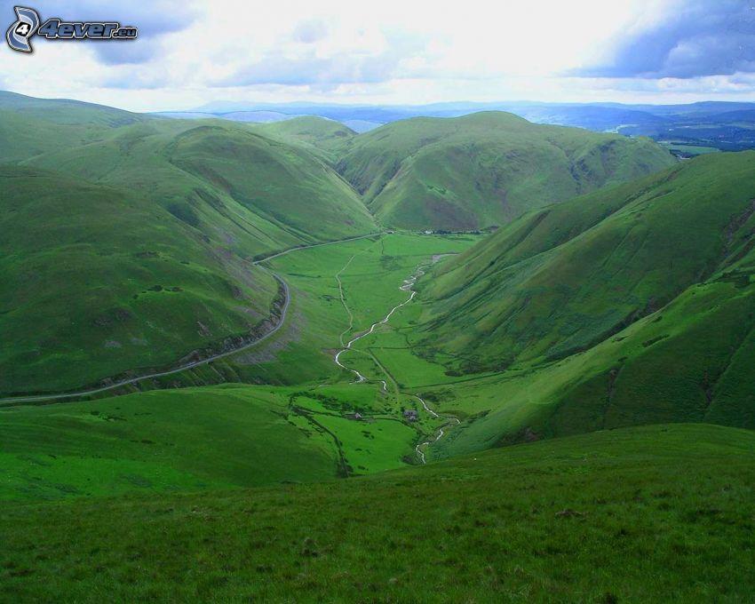 dolina, pasmo górskie