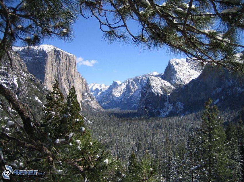 El Capitan, dolina, Park Narodowy Yosemite