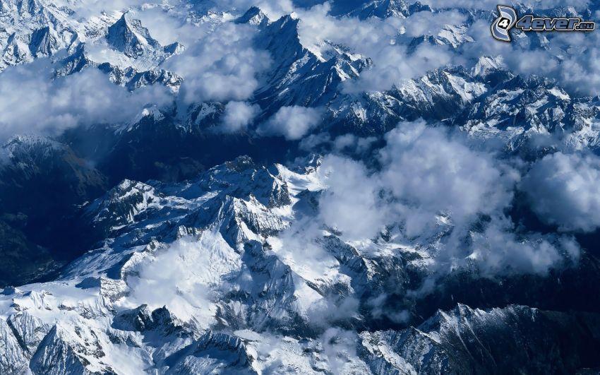 Himalaje, zaśnieżone góry