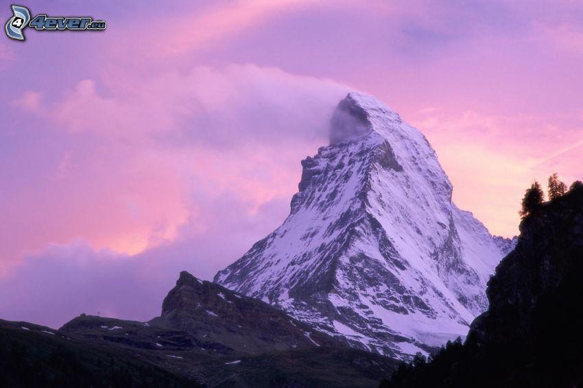 Matterhorn, Szwajcaria, góra, wzgórze, śnieg