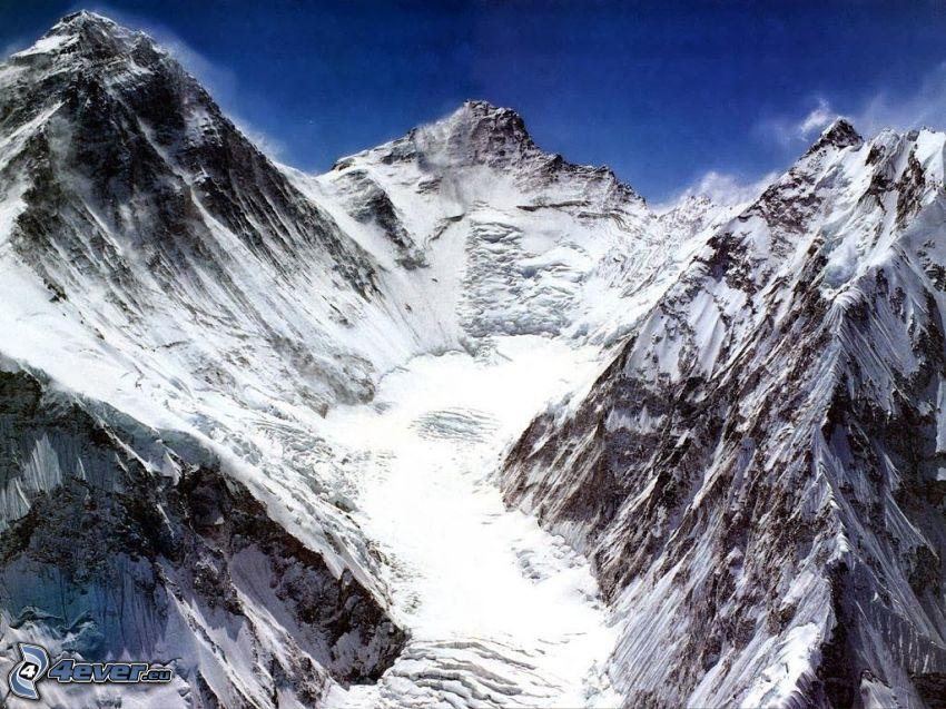 Mount Everest, zaśnieżone góry