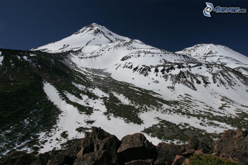 Mount Shasta, zaśnieżona góra
