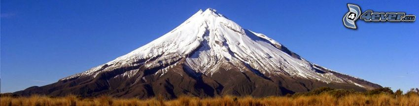 Taranaki, zaśnieżona góra