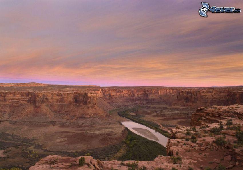 kanion, widok na dolinę, widok ze skał