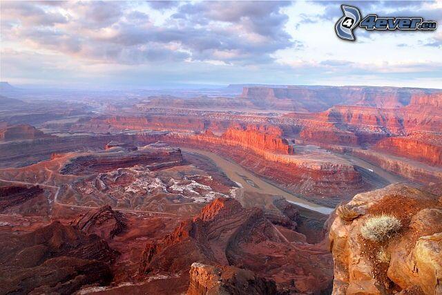 Canyonlands National Park, Dead Horse Point, skały, dolina