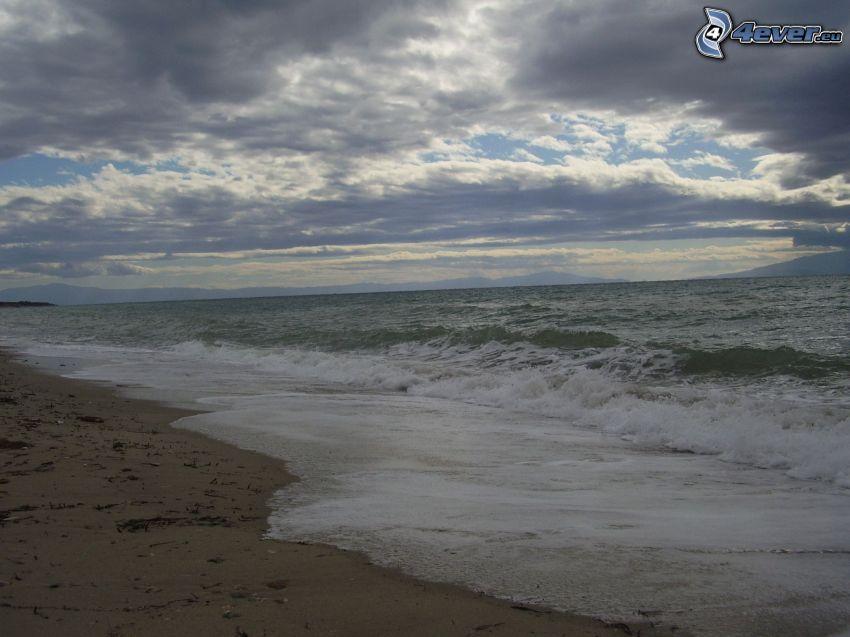 fale na wybrzeżu, morze