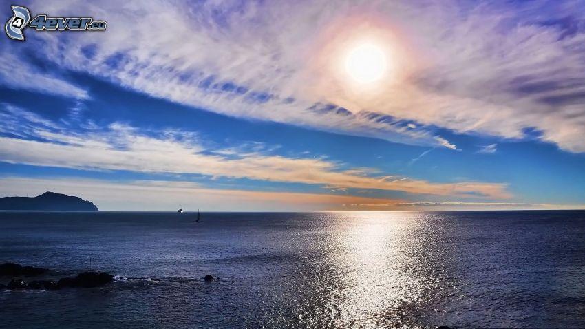 morze, chmury