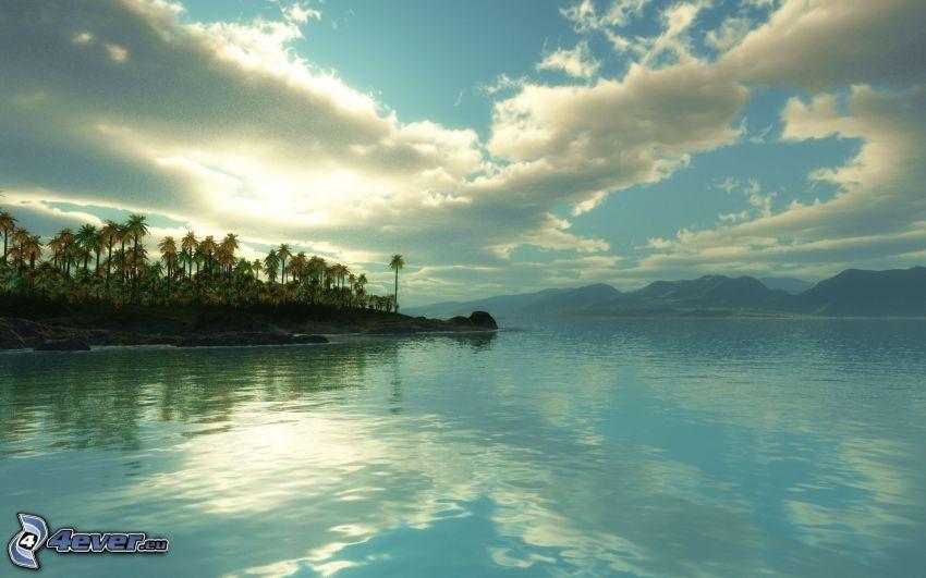 morze, niebo, wyspa