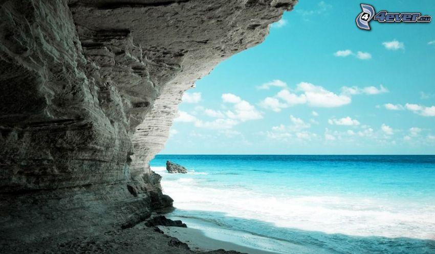 morze, skała, plaża