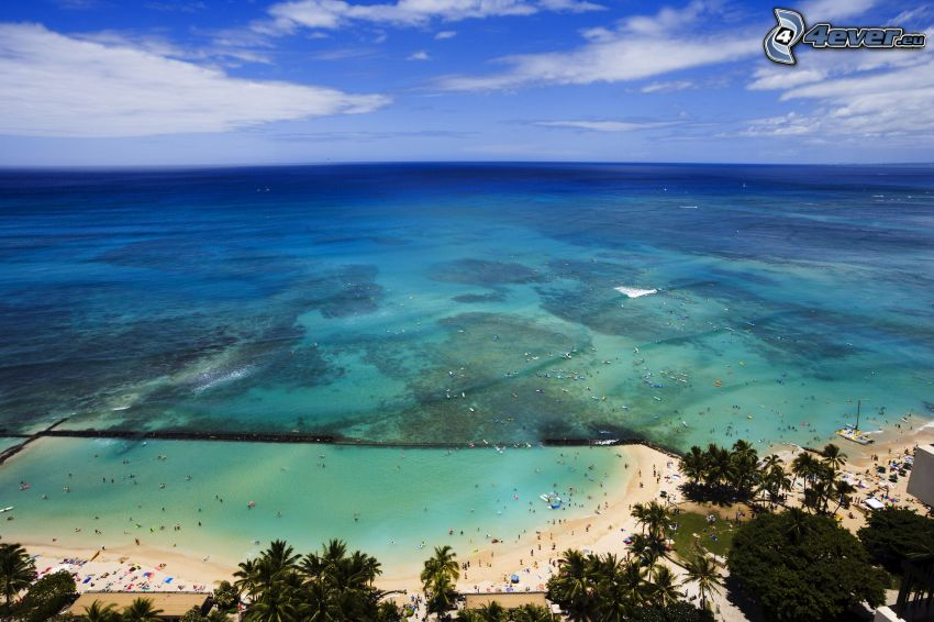 morze otwarte, plaża piaszczysta