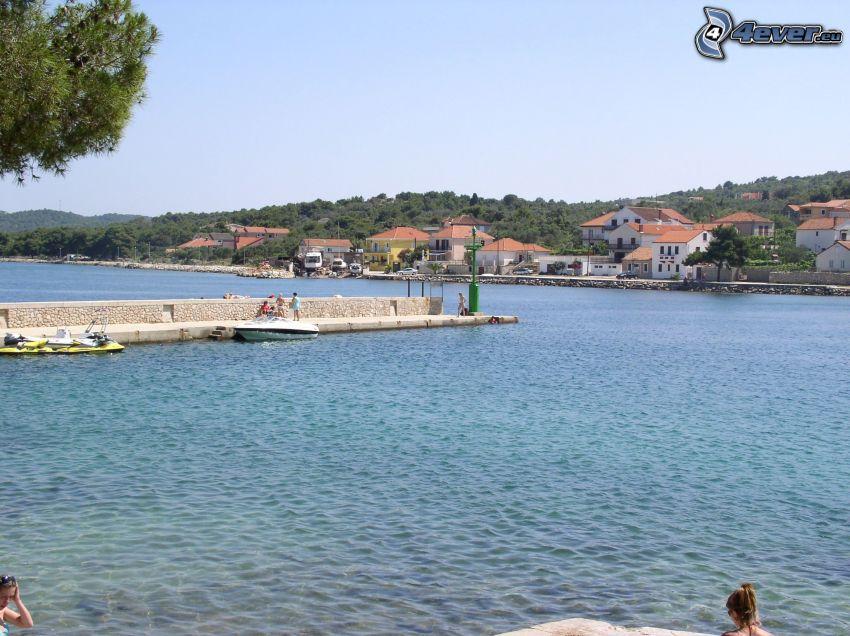 plaża, morze, Chorwacja