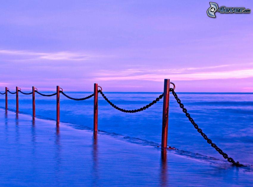 poręcz, morze