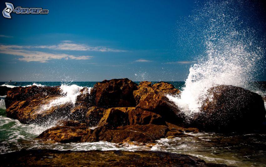 skalisty brzeg, morze