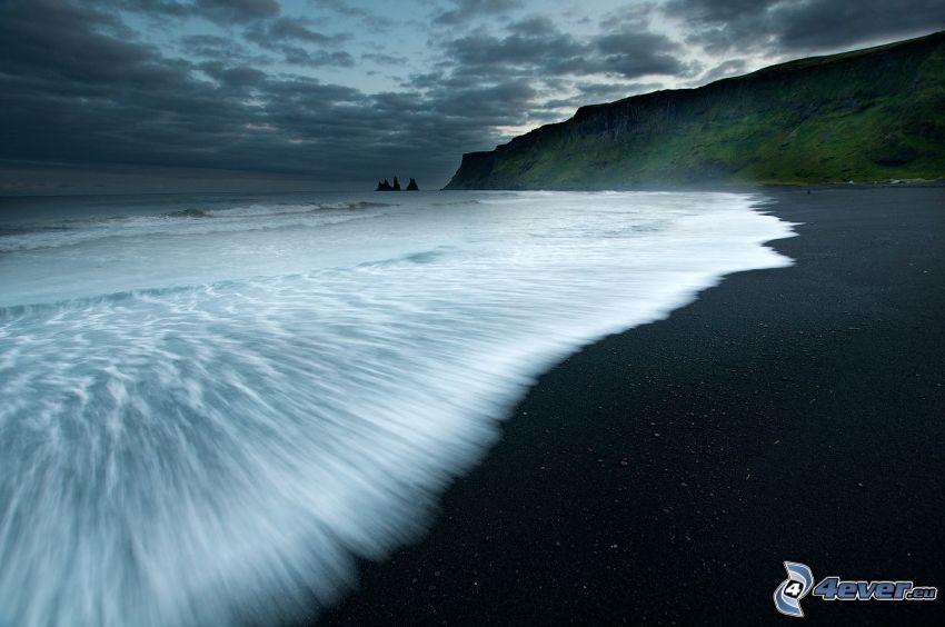 wybrzeże, morze, nadmorskie urwiska