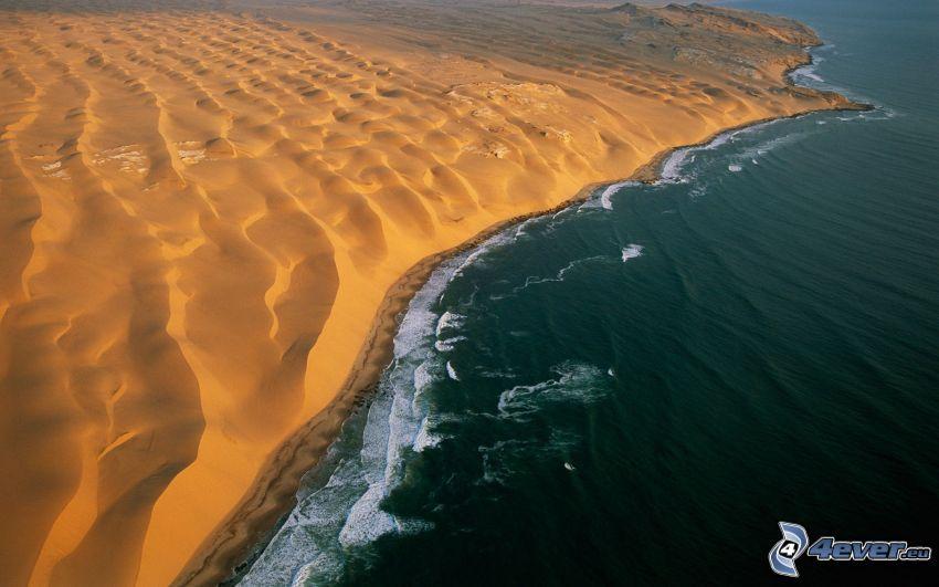 wybrzeże, piasek, morze, Namibia