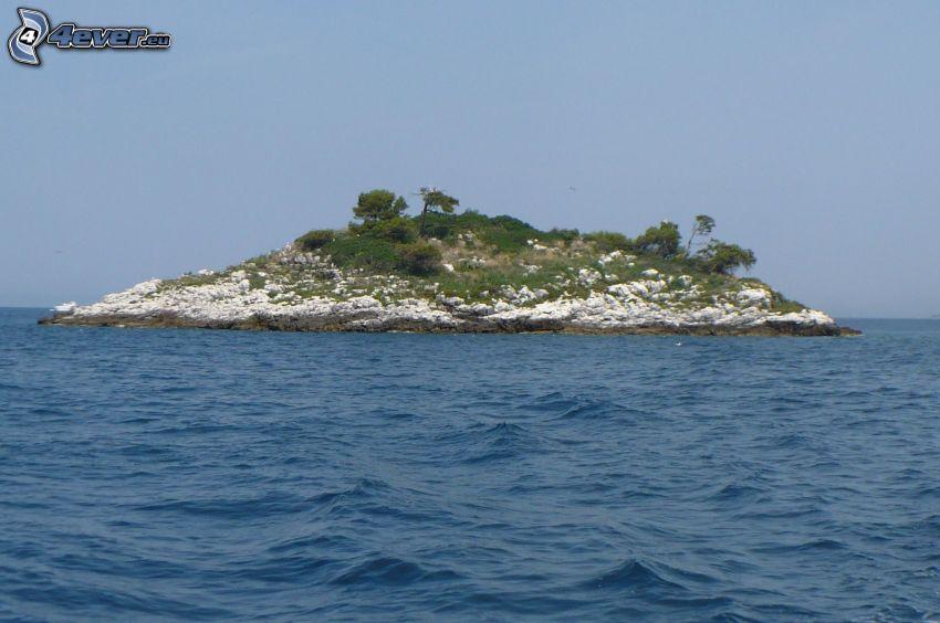 wyspa, morze, Chorwacja